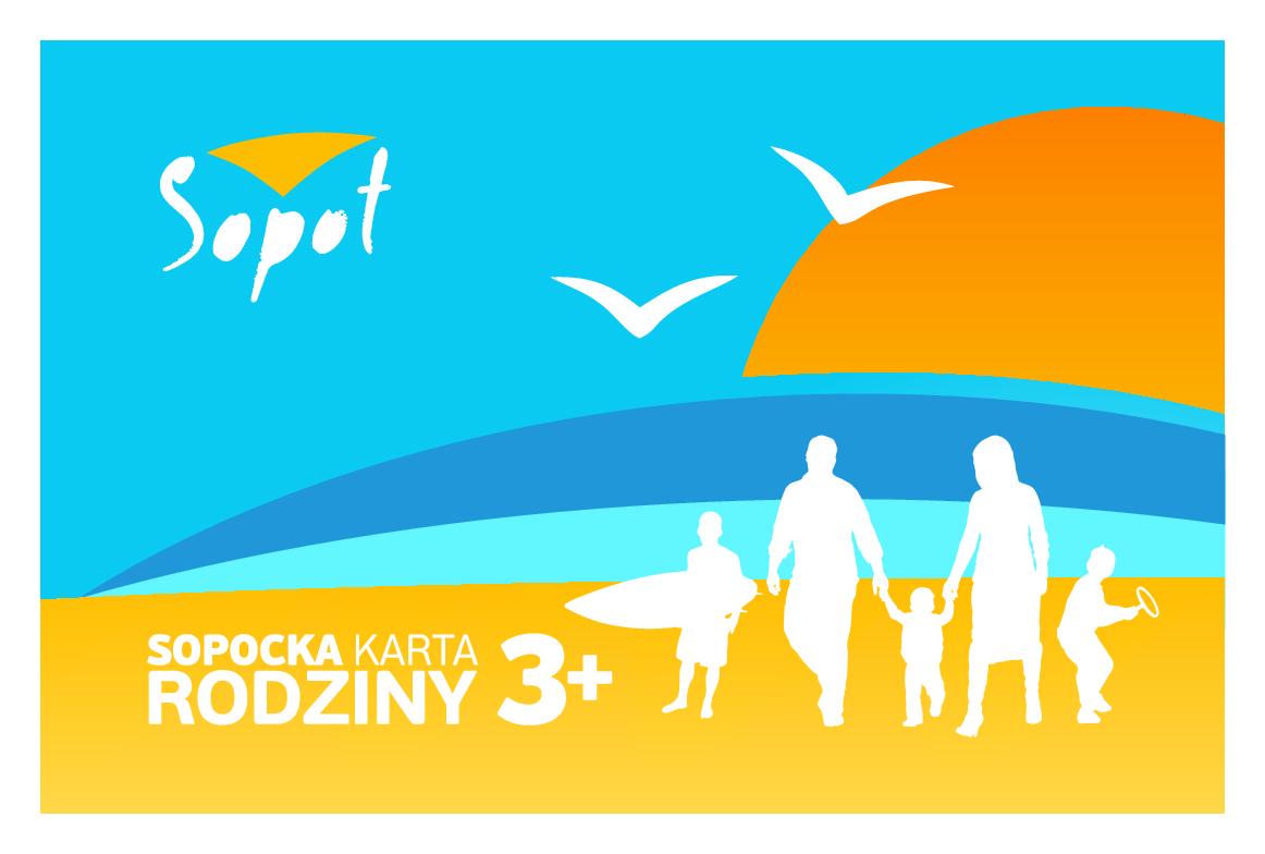 Przód Sopockiej Karty Rodziny 3+
