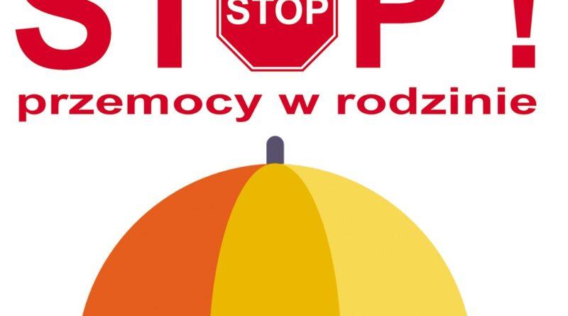 obrazek parasola i napis stop przemocy w rodzinie