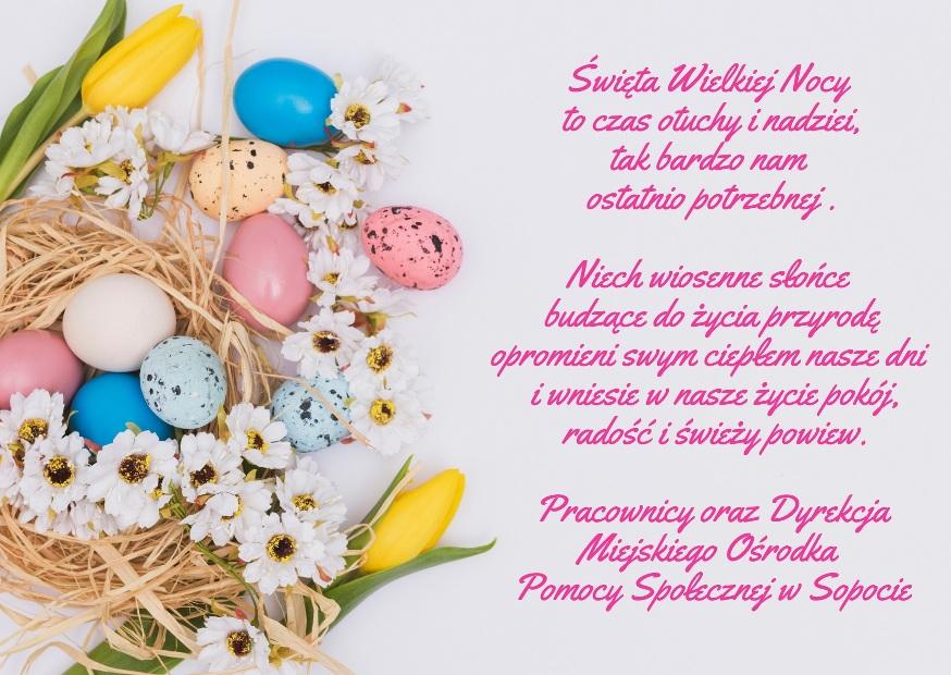 kartka z życzeniami na Wielkanoc
